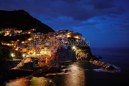 manarola village in the night cinque