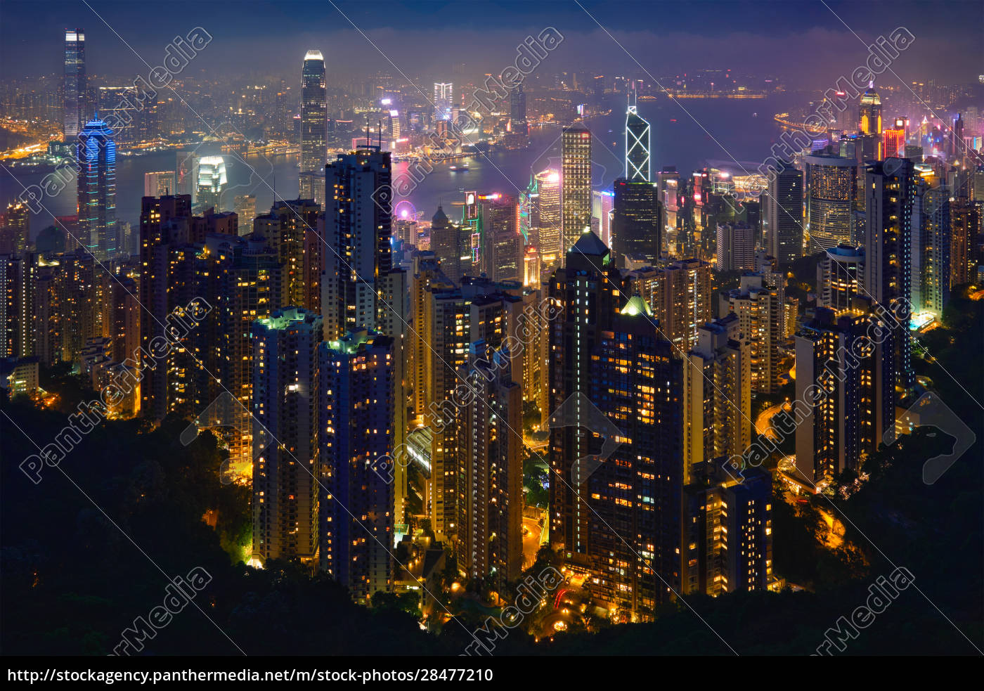 hong, kong, skyscrapers, skyline, cityscape, view - 28477210