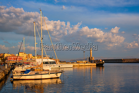 yachts and boats in picturesque old