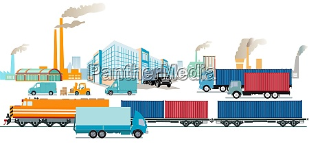 transport industry factories and freight transportation