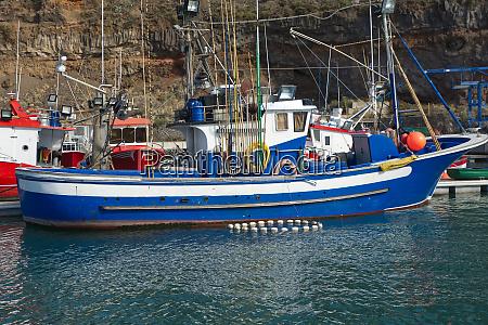 boats at tazacorte la palma canary