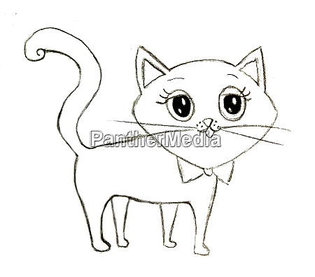 cute fairy tale kitty coloring