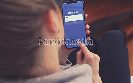 kyiv ukraine january 2020 facebook on