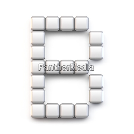 white cube pixel font letter b