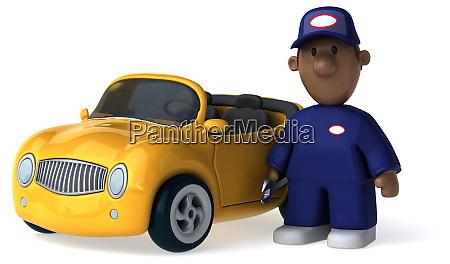 fun mechanic 3d illustration