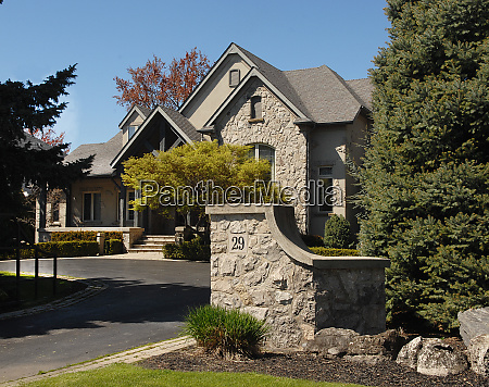 beautiful estate an old stone house