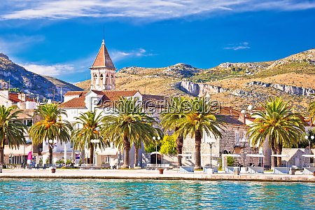 trogir waterfront and landmarks of