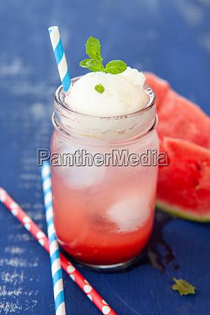 homemade lemonade with water melon