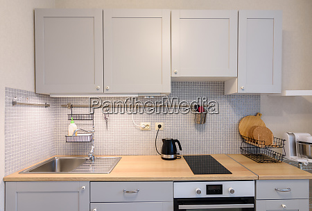 classic kitchen with built in a