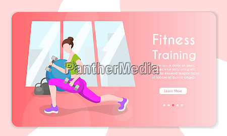 fitness training female character