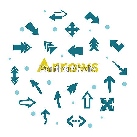 arrows directions and indicators