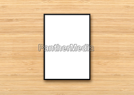black picture frame hanging on a