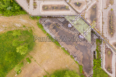 aerial view above of unfinished university