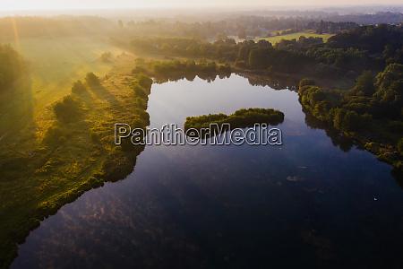aerial view of osprey lake at