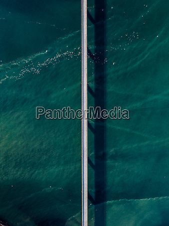 aerial view of a bridge over