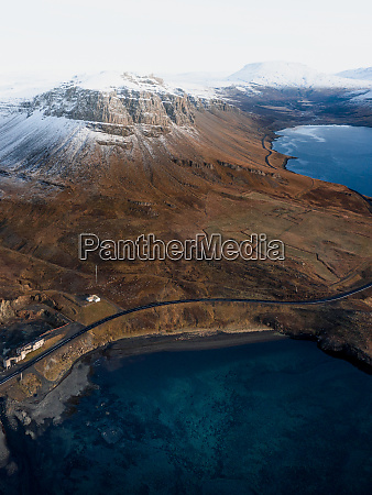 aerial view of thyrill mountain and