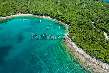 aerial view of the turquoise waters