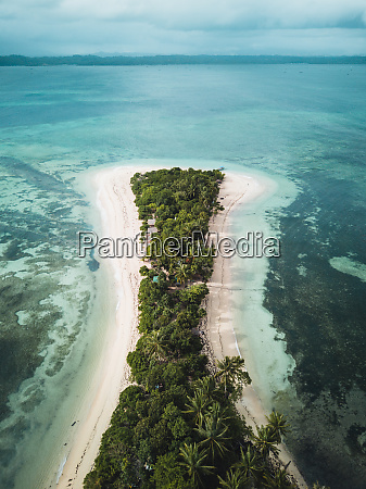 aerial view of cabgan islet in