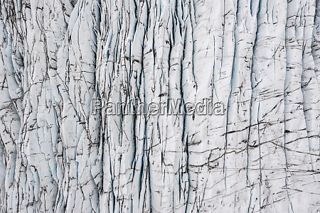 aerial view of cracks in the