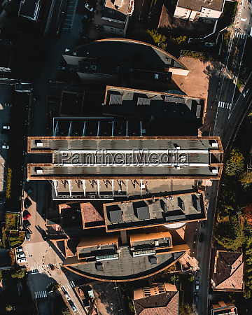 aerial view of a science fiction