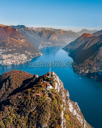 aerial view of mount san salvatore