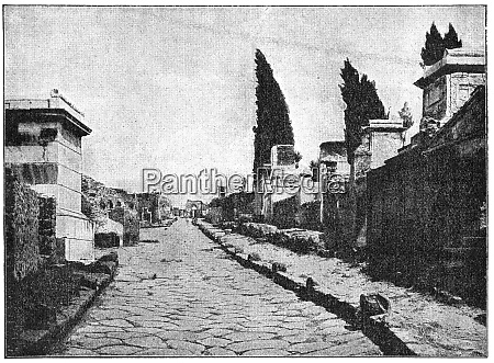 the streets of pompeii the city