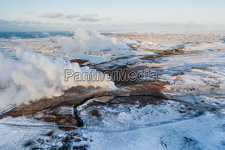 aerial, view, of, geothermal, steam, pot, - 28493190
