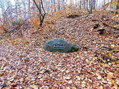 stone with the inscription carolinenhain