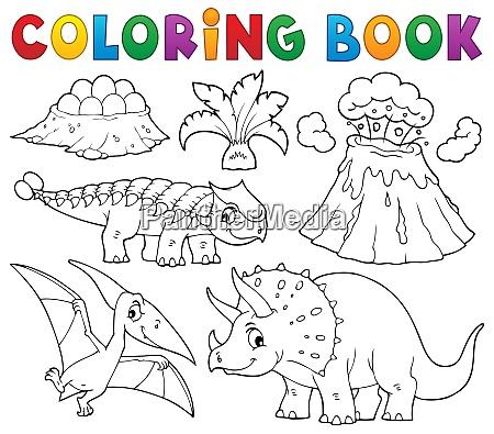 coloring book dinosaur subject image 5