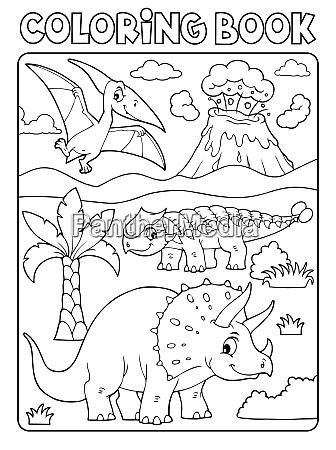 coloring book dinosaur subject image 6