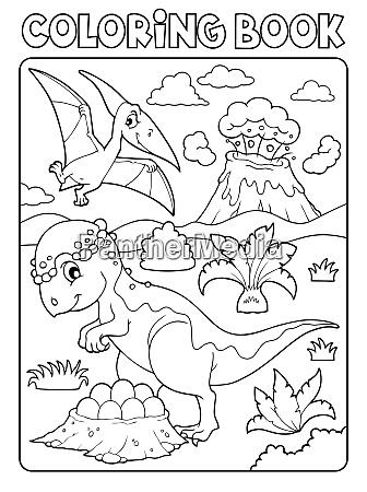 coloring book dinosaur subject image 7