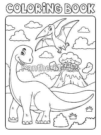 coloring book dinosaur subject image 8