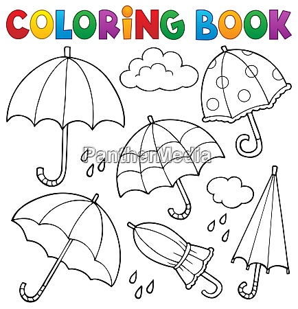 coloring book umbrella theme set 1