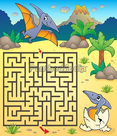 maze 3 with pterodactyls