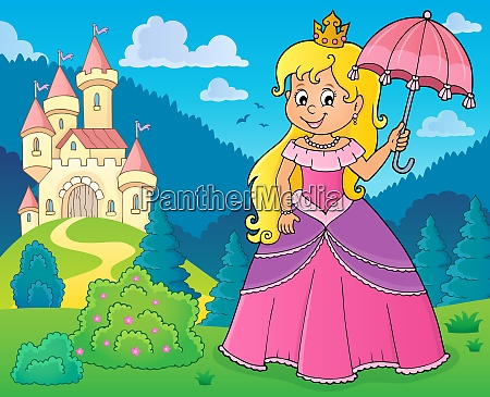 princess with umbrella theme image 2