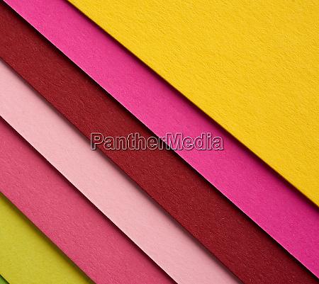 multi colored cardboard folded in layers
