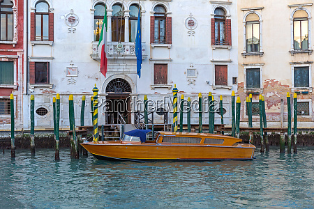 parked taxi boat