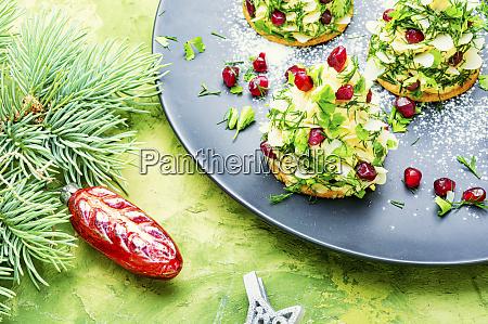 appetizing christmas tartlet