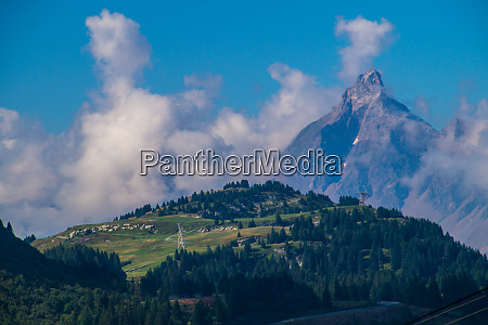 landscape of the swiss alps