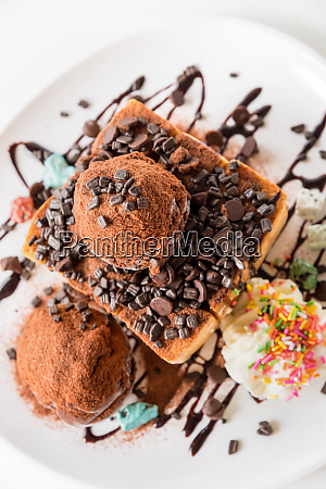 honey toast chocolate ice cream