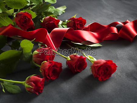 ribbon with a bunch of red