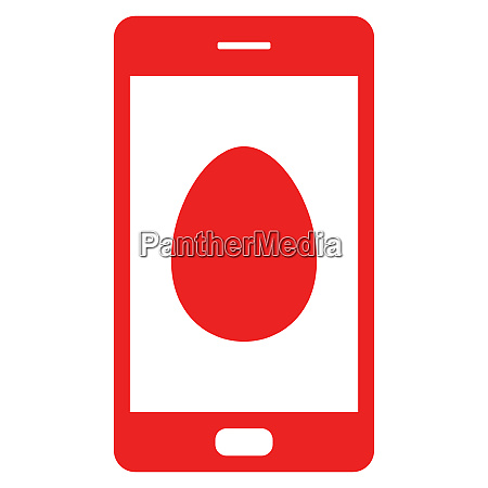 egg and smartphone