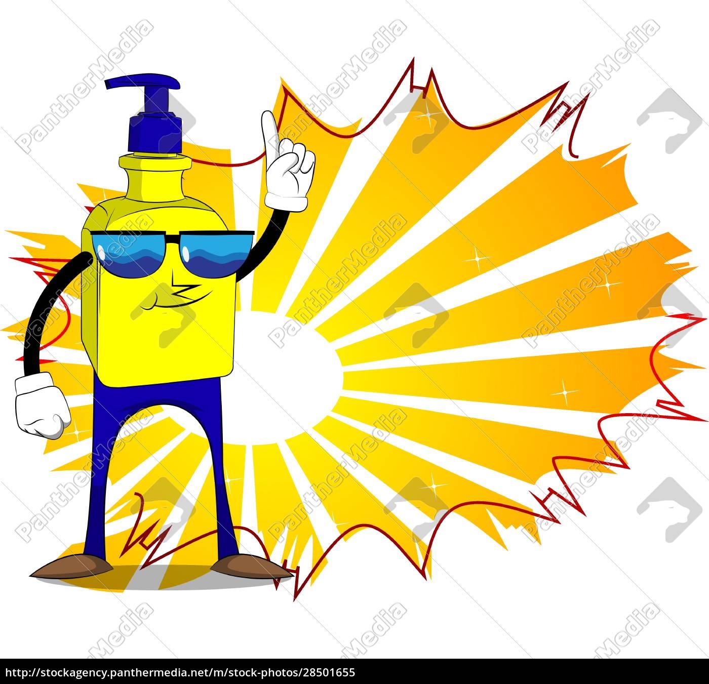 bottle, of, hand, sanitizer, gel, with - 28501655