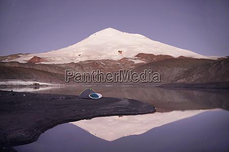 camping on mountain lake birdzhaly mount