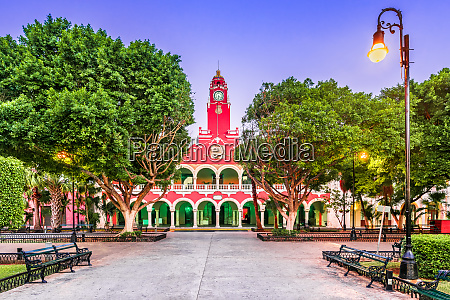 merida mexico city hall in the