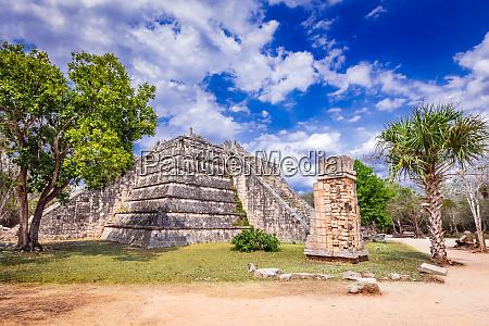 mayan ossuary at chichen itza yucatan