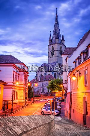 sibiu romania the german cathedral at