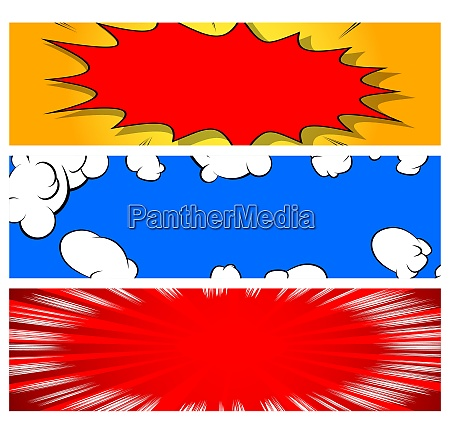vector background set in comic book