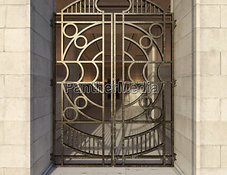 3d rendering deco lobby entrance