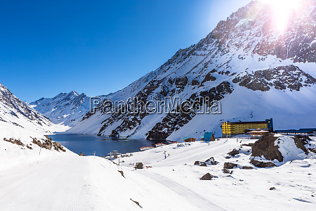 ski in chile on a sunny